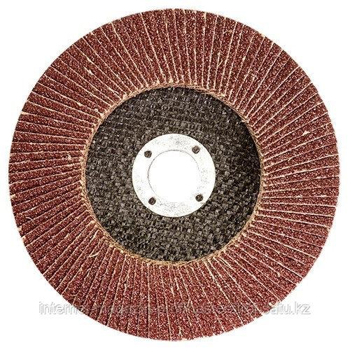 Круг лепестковый торцевой, P 80, 180 x 22.2 мм, MATRIX
