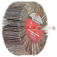 Круг лепестковый для дрели, 80 x 30 x 6 мм, P 60, MATRIX