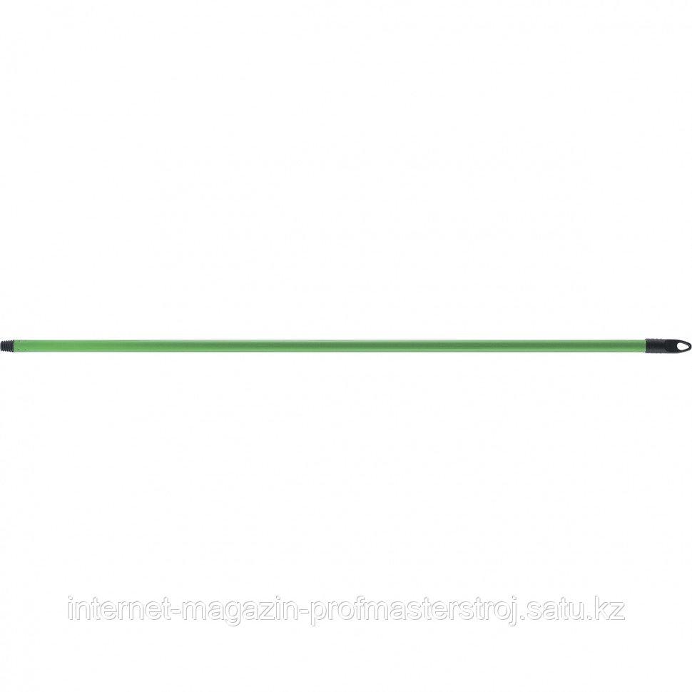Черенок для метлы металлопластиковый, пластиковая резьба, 21 х 1200 мм. Россия