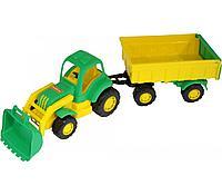 Трактор с прицепом и ковшом крепыш