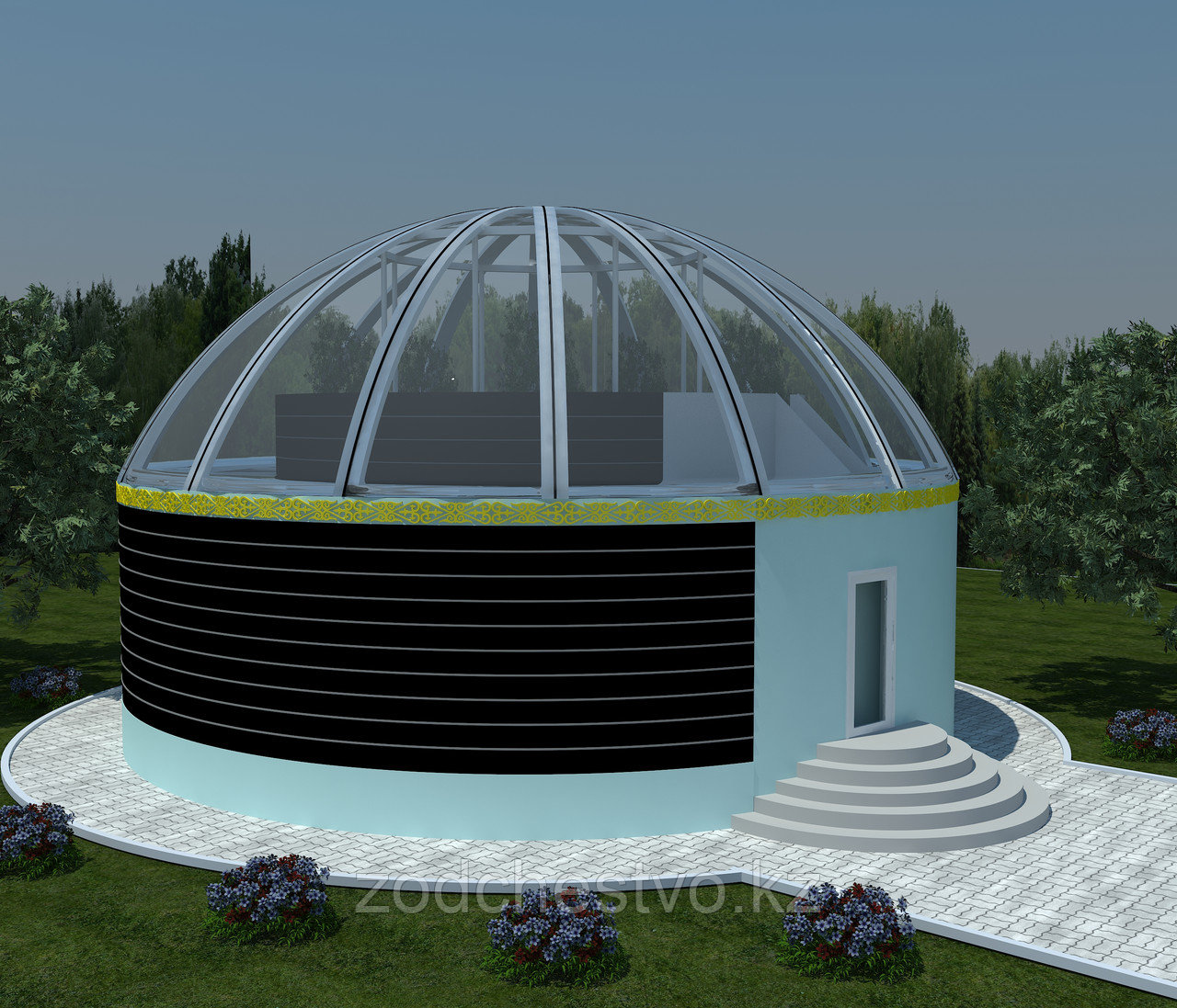 Проектирование и строительство из ЛМК туристических баз, домов отдыха, кафе, ресторанов в виде юрты