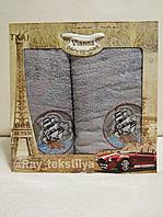 Набор махровых полотенец в подарочной упаковке. Турция, 2шт.