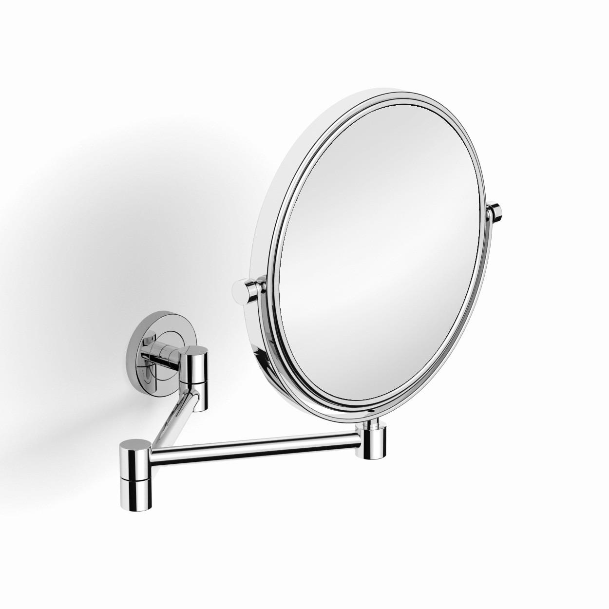 Зеркало настенное для ванны 391 никель
