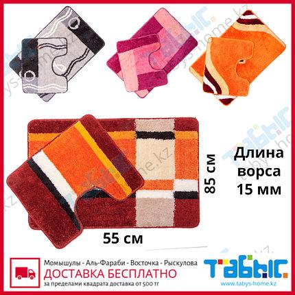 Коврик для ванной комнаты Табыс цветной 55х85 15мм 2-ка, фото 2