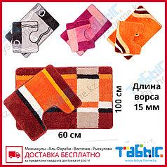 Коврик для ванной комнаты Табыс цветной 60х100 15мм 2-ка