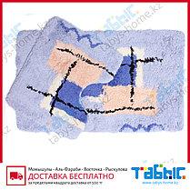 Коврик для ванной комнаты Табыс акрил цветной 60х100 30мм 2-ка, фото 2