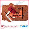 Коврик для ванной комнаты Табыс акрил цветной 60х100 30мм 2-ка, фото 6