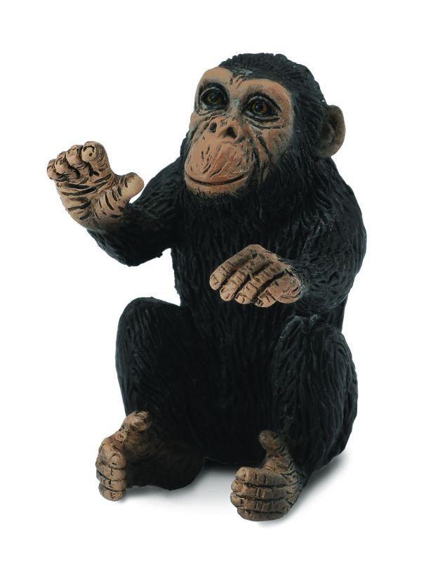 CollectA Фигурка Детёныш шимпанзе, 3 см