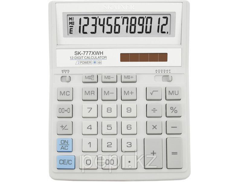"Калькулятор настольный SKAINER ""777XWH"" 12 разрядный белый"
