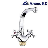 Смеситель для кухни  двуручный  ZEGOR DTZ4-D827