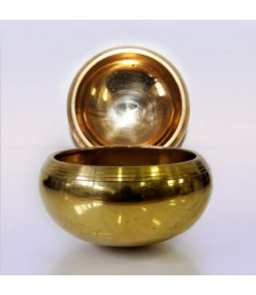 ЧАША ПОЮЩАЯ GOLD 7 МЕТАЛЛОВ ВЕС 251Г-400Г 8.5СМ НАСТРОЙКА 7 ЧАКР