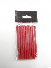 Свечи восковые красные набор 15шт