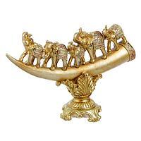 """Сувенир полистоун """"5 слонов на бивне"""" 19х31,5х11 см, фото 1"""