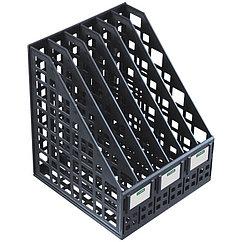 Лоток сборный вертикальный 6 отделений черный ЛТ87