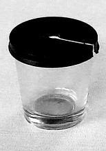 Стакан психрометрический стеклянный с крышкой