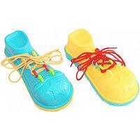 Шнуровка Клоунский ботинок (желто-голубой)