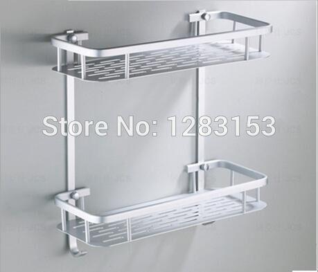 Полка для ванной квадратная 2882 (серебро)