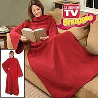 Плед с рукавами Snuggie Blanket (снагги бланкет) бордовый