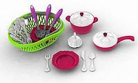 Набор посуды кухонный сервис Волшебная хозяюшка (23 пред.в лукошке)+чеснок