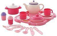 Набор детской посуды Алиса с подносом на 2 перс.