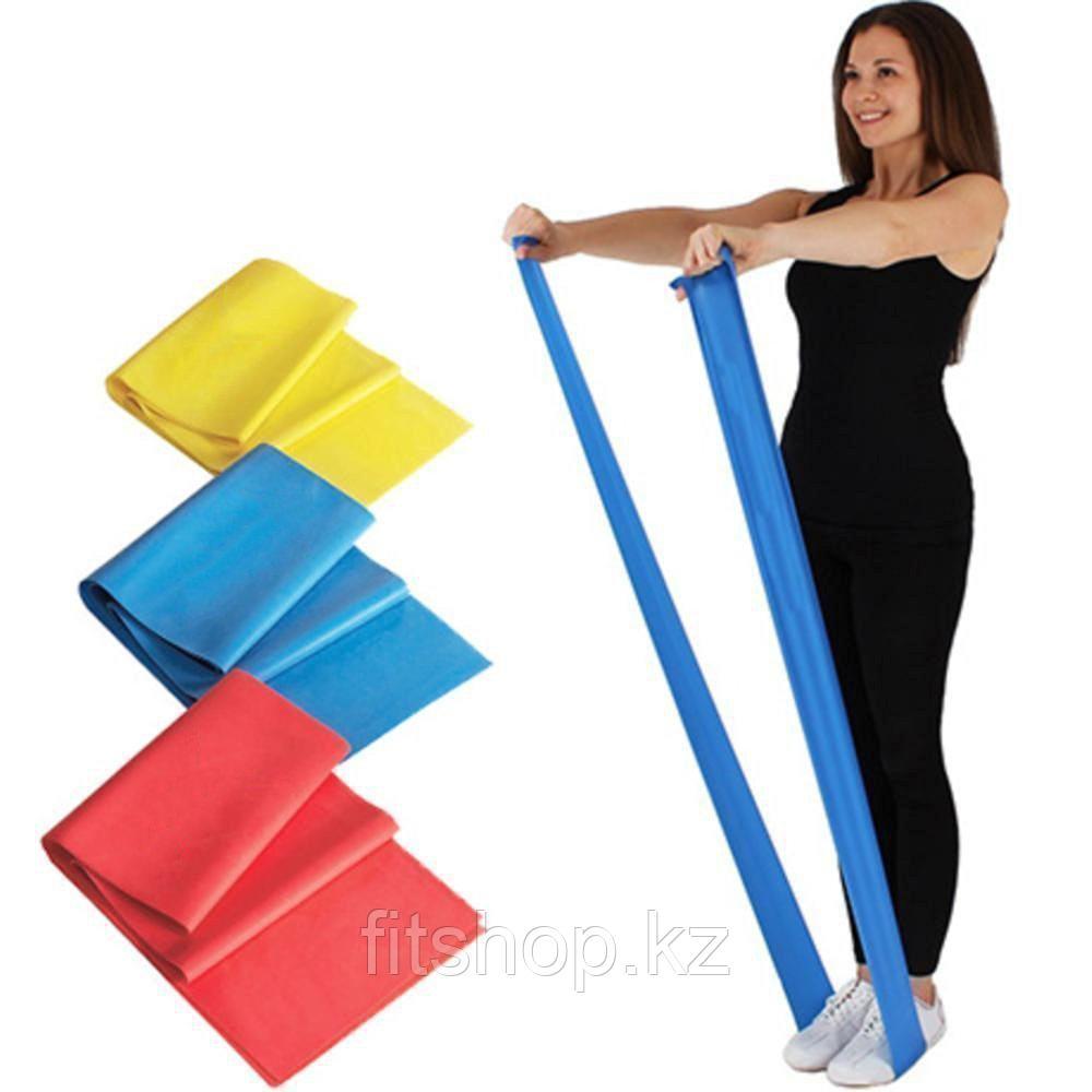 Резиновая эластичная лента-эспандер для фитнеса 1 шт - фото 1