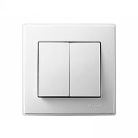 705-0202-101 Выключатель 2кл, белый