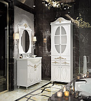 Тумба под умывальник Жозефина  85 см. Настенное зеркало. Шкаф (золото), фото 3