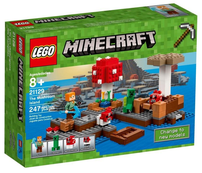 21129 Lego Minecraft Грибной остров, Лего Майнкрафт