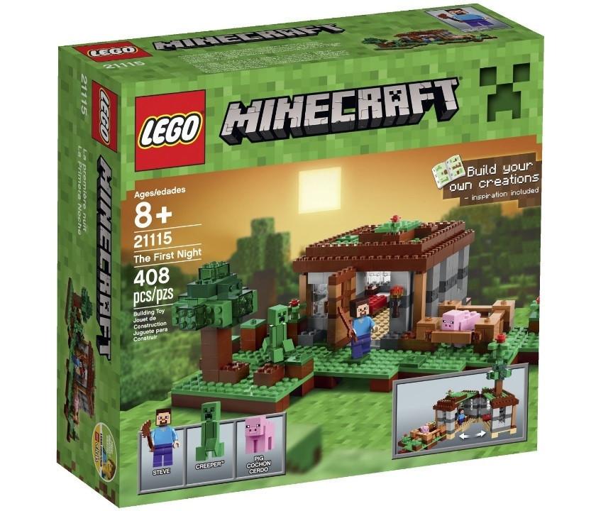 21115 Lego Minecraft Первая ночь, Лего Майнкрафт