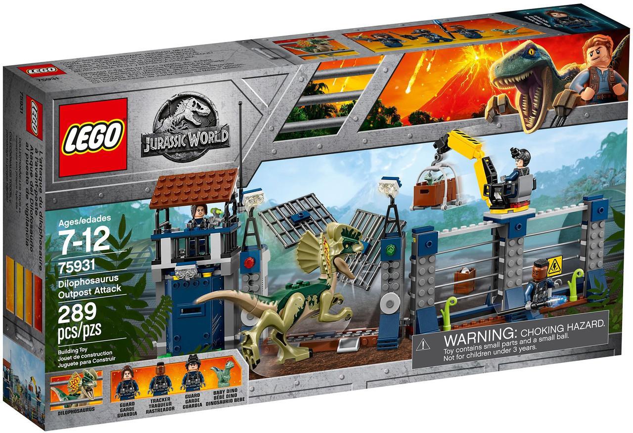 75931 Lego Jurassic World Нападение дилофозавра на сторожевой пост, Лего Мир Юрского периода
