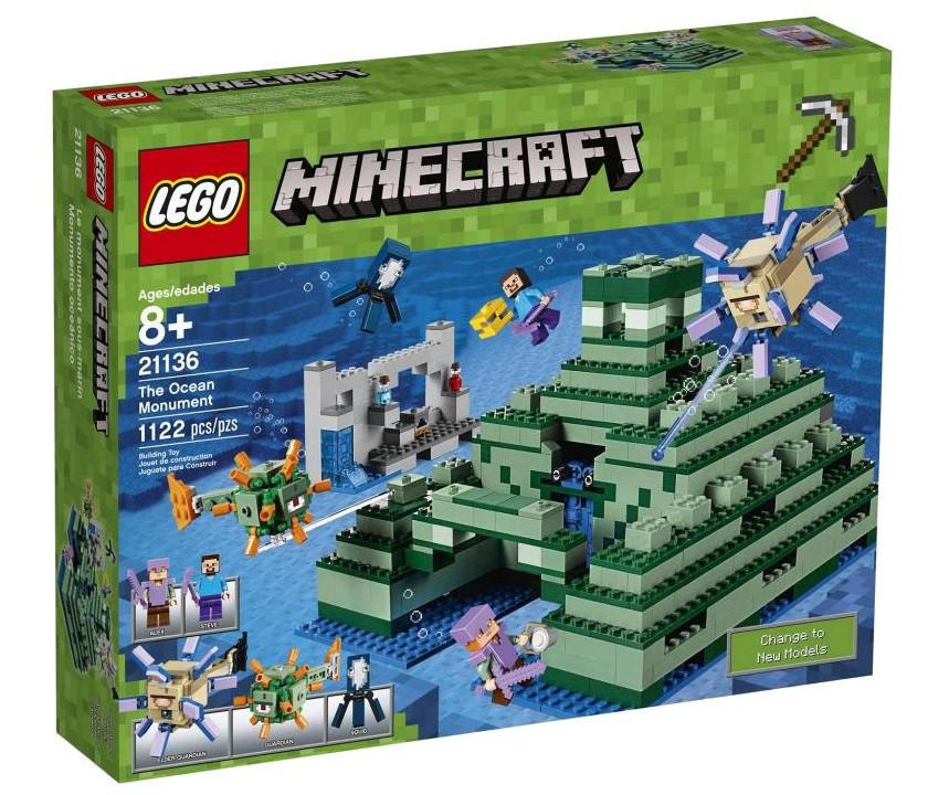 21136 Lego Minecraft Подводная крепость, Лего Майнкрафт
