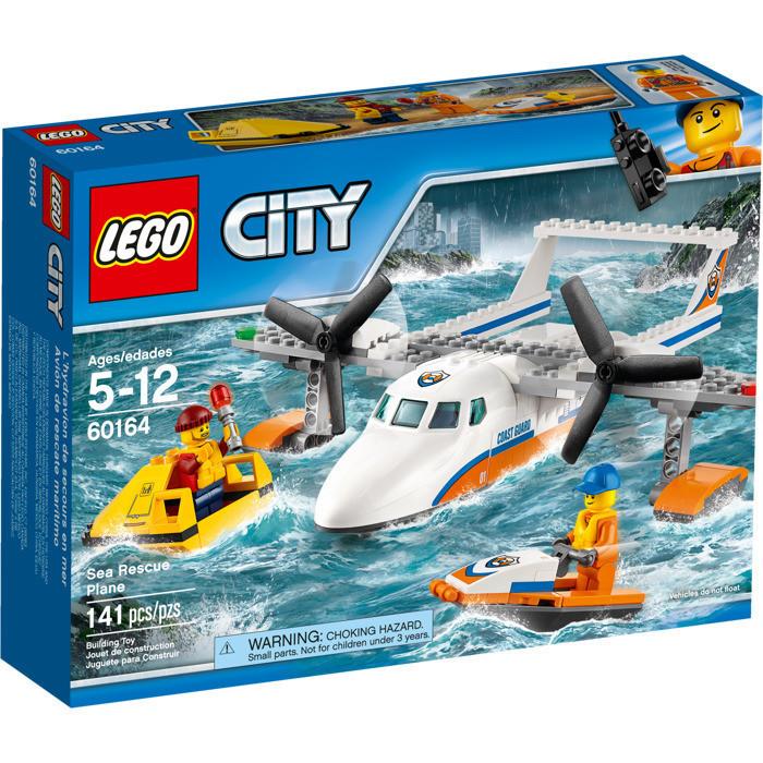 60164 Lego City Спасательный самолет береговой охраны, Лего Город