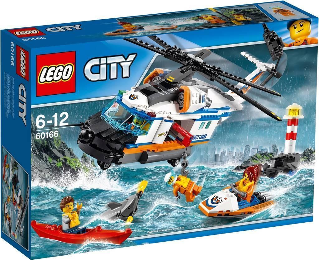60166 Lego City Сверхмощный спасательный вертолёт, Лего Город