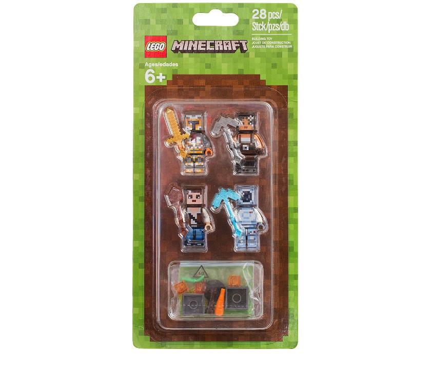 853610 Lego Minecraft Набор из 4 минифигурок, Лего Майнкрафт