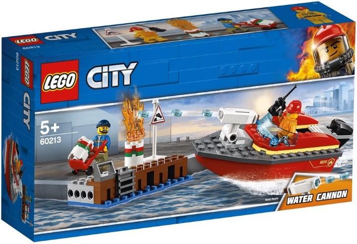 60213 Lego City Пожарные: Пожар в порту, Лего Город Сити