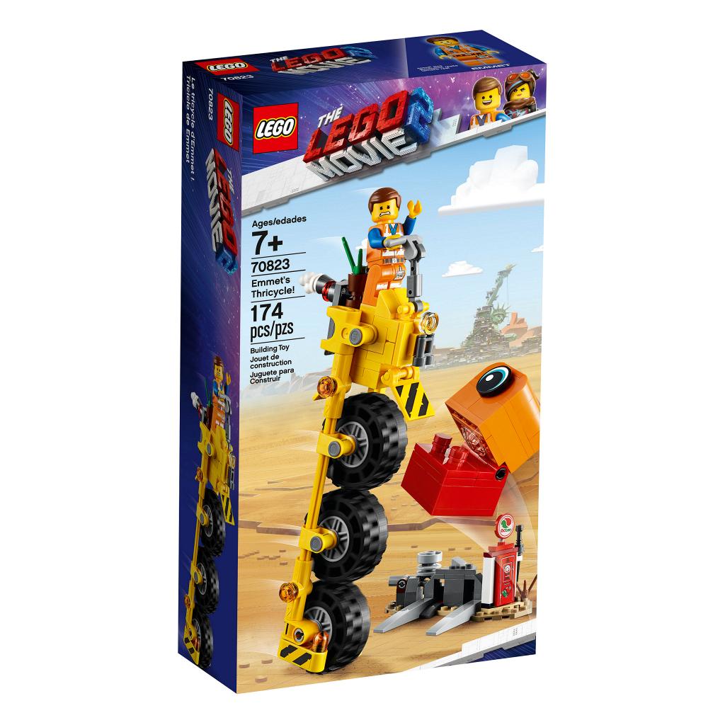 70823 Lego Лего Фильм 2: Трехколёсный велосипед Эммета!
