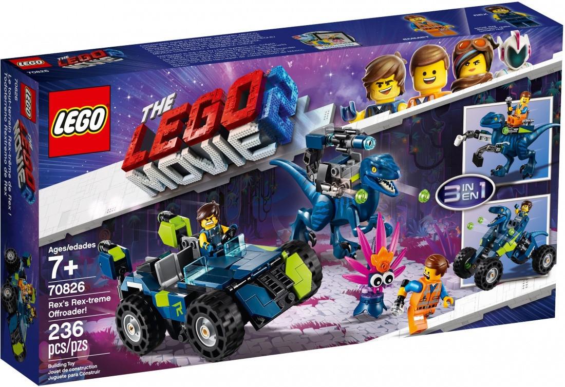 70826 Lego Лего Фильм 2: Рэкстремальный внедорожник Рэкса!