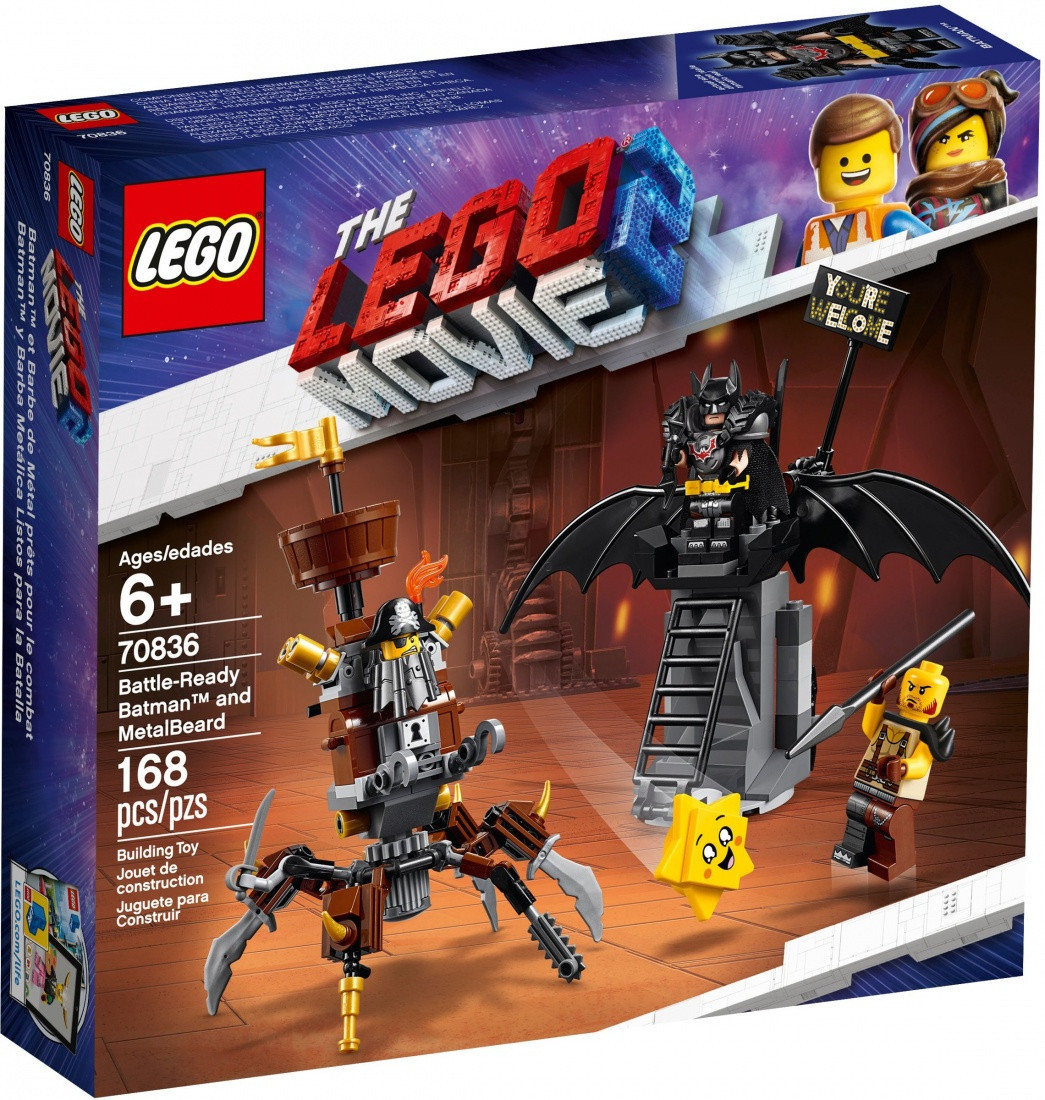 70836 Lego Лего Фильм 2: Боевой Бэтмен и Железная борода