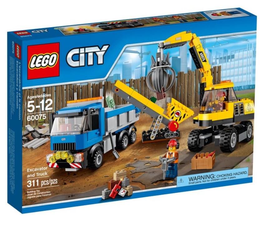 60075 Lego City Экскаватор и грузовик, Лего Город Сити