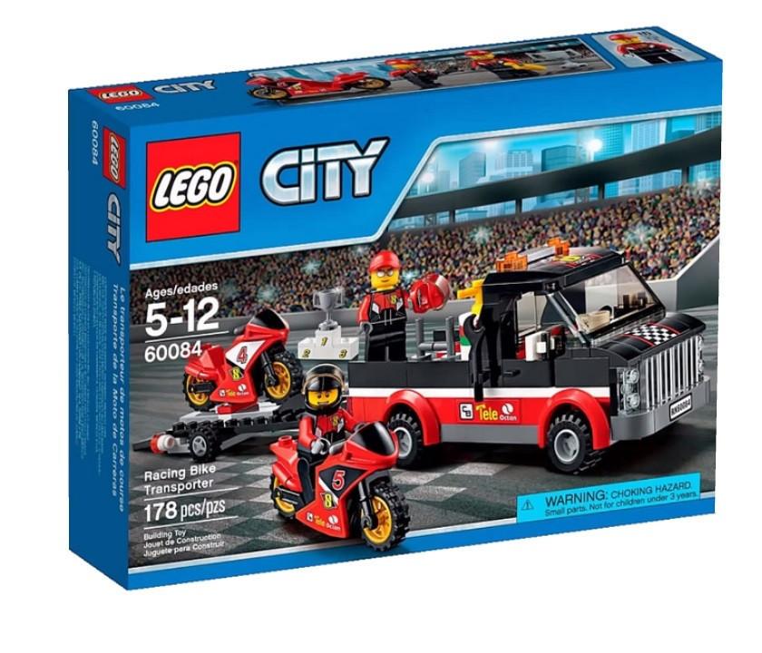 60084 Lego City Перевозчик гоночных мотоциклов, Лего Город Сити