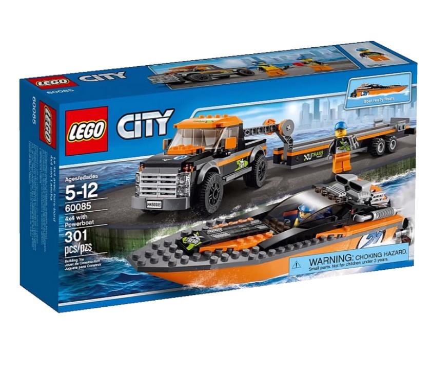 60085 Lego City Внедорожник 4x4 с гоночным катером, Лего Город Сити