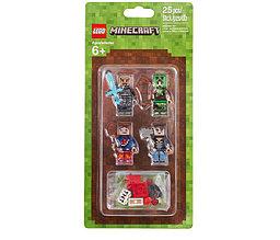 853609 Lego Minecraft Набор из 4 минифигурок Minecraft-1, Лего Майнкрафт