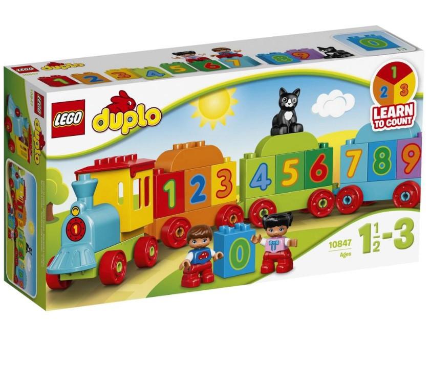 10847 Lego Duplo Поезд Считай и играй, Лего Дупло