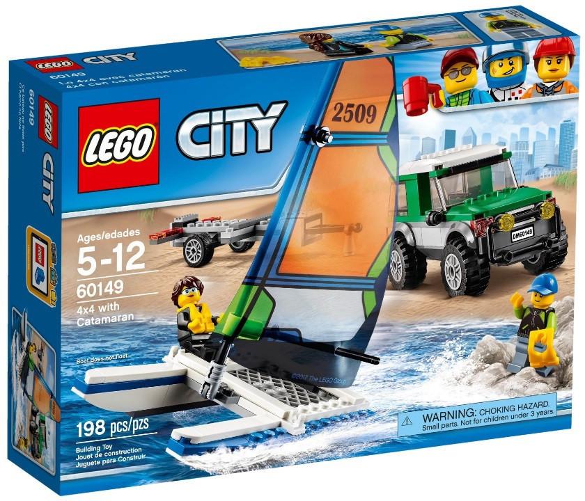60149 Lego City Внедорожник с прицепом для катамарана, Лего Город Сити