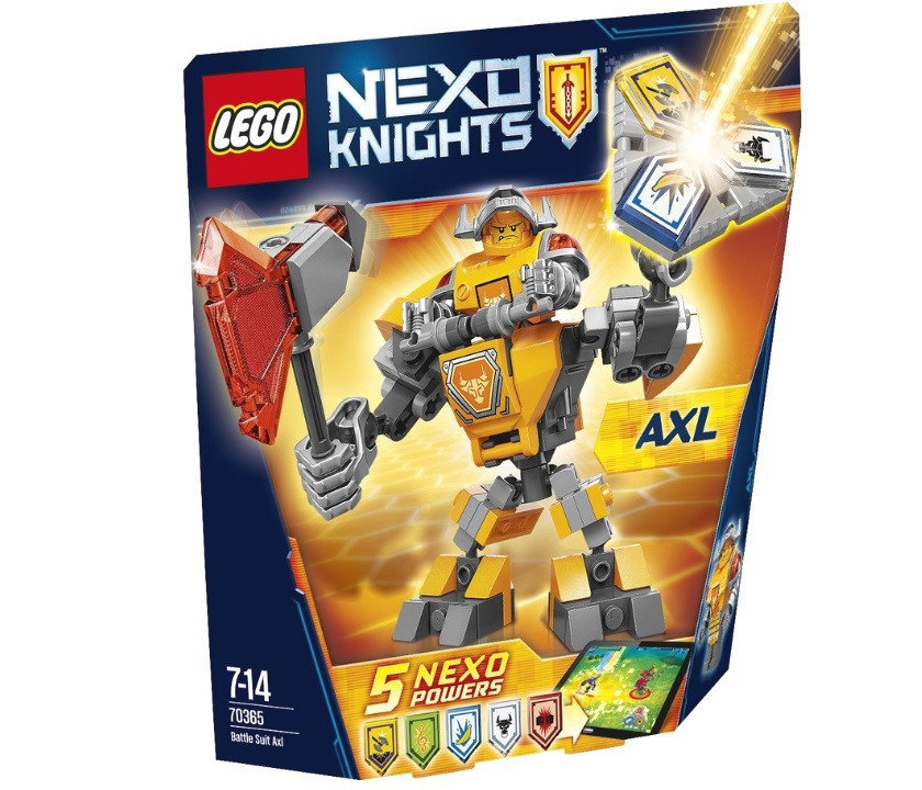 70365 Lego Nexo Knights Боевые доспехи Акселя, Лего Рыцари Нексо