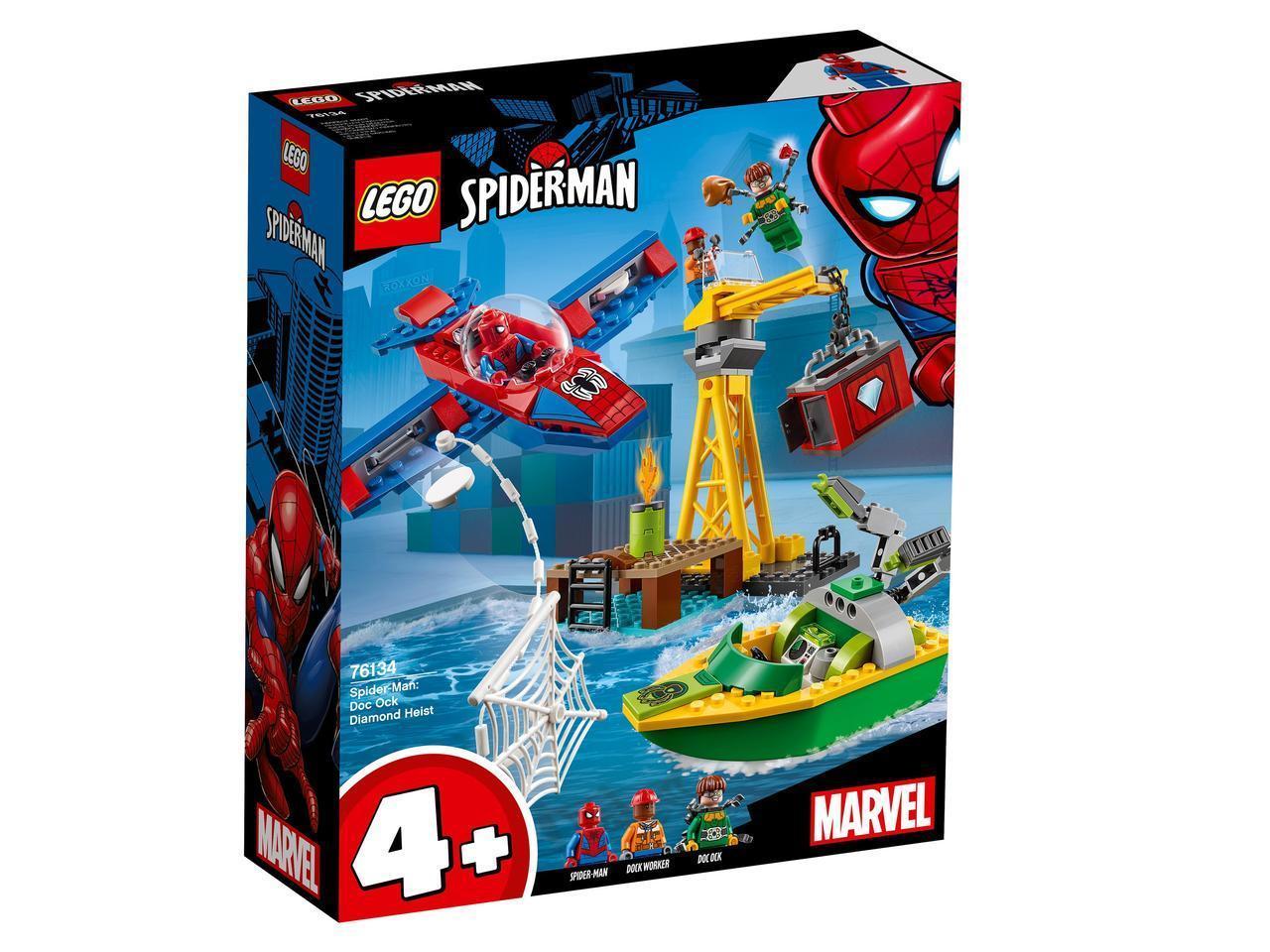 76134 Lego Super Heroes Человек-Паук: похищение бриллиантов Доктором Осьминогом