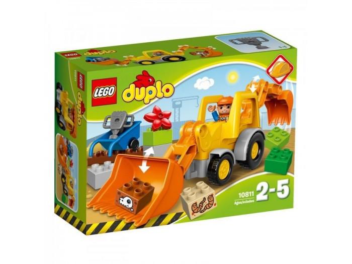 10811 Lego Duplo Экскаватор-погрузчик, Лего Дупло