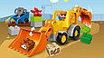 10811 Lego Duplo Экскаватор-погрузчик, Лего Дупло, фото 2