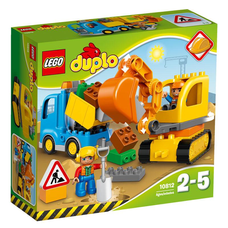 10812 Lego Duplo Грузовик и гусеничный экскаватор, Лего Дупло