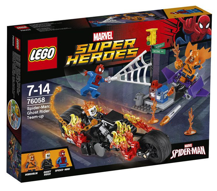 76058 Lego Super Heroes Человек-паук: Союз с Призрачным гонщиком, Лего Супергерои Marvel